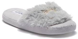Steve Madden Crown Faux Fur Slipper (Little & Big Kid)