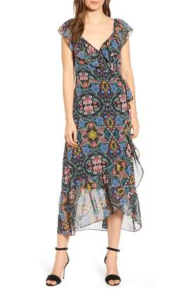 Rebecca Minkoff Jessica Floral Wrap Midi Dress
