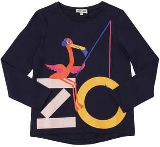 Kenzo Flamingo Printed Cotton Jersey T-Shirt