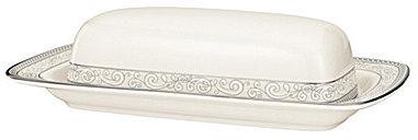 NoritakeNoritake Meridian Cirque Filigree Platinum Covered Butter Dish
