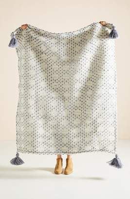 Anthropologie Bobble Stripe Throw Blanket