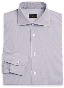Ermenegildo Zegna Men's Pinstripe Seersucker Dress Shirt