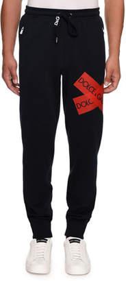 57fe46630cfad Dolce   Gabbana Men s Sweatpants with Logo Tape