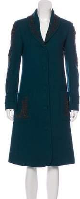 Megan Park Wool Embellished Coat w/ Tags