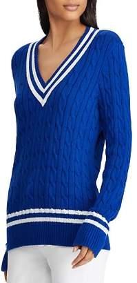 Ralph Lauren Stripe Cable Knit Cricket Sweater