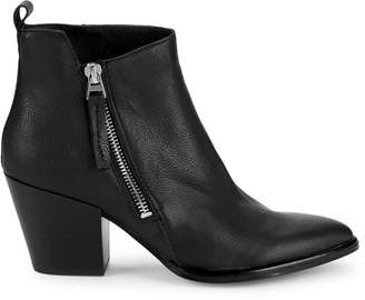 Dolce Vita Rila Pebbled Leather Stack-Heel Booties