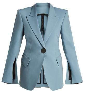 Petar Petrov Jovan Single Breasted Wool Blend Blazer - Womens - Blue