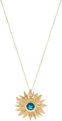 ADI Paz 14K Gold Gemstone Sunburst Pendant w/Chain
