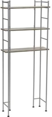 Household Essentials Over-The-Toilet 3-Shelf Storage Shelves, Concrete