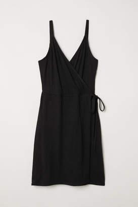 H&M Modal-blend Wrap Dress - Black