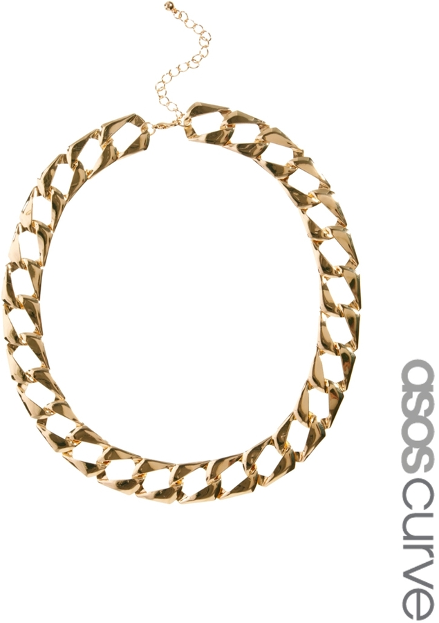 Asos Vintage Style Flat Link Necklace
