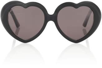 Balenciaga Susi heart-shaped sunglasses