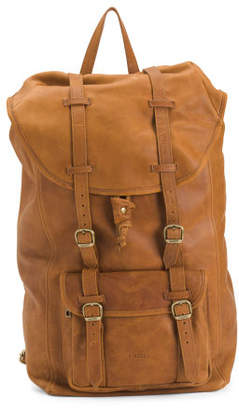 Made In Italy Soft Utility Leather Backpack