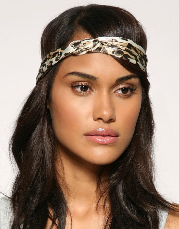 ASOS Leopard Print Knotted Headband
