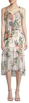 Parker Josie Floral Silk Midi Dress