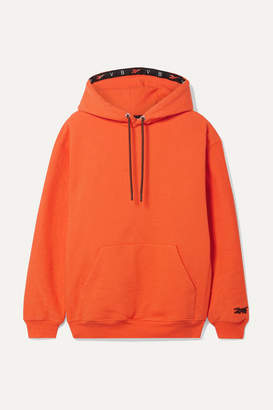 Reebok x Victoria Beckham Oversized Cotton-terry Hoodie - Orange
