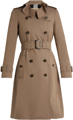 BURBERRY Townley ruffled-collar cotton trench coat $1,496 thestylecure.com