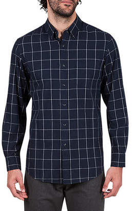 Haggar HERITAGE Brushed Checkered Cotton Sportshirt