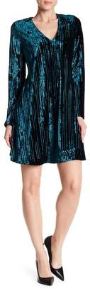 Chetta B Pleated Velvet Dress