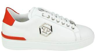 Philipp Plein Sneakers caribou In White Leather Whit Logo Applied