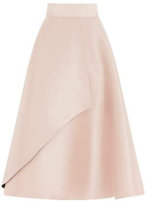 Coast Womens Champagne Twill Skirt - Metallic