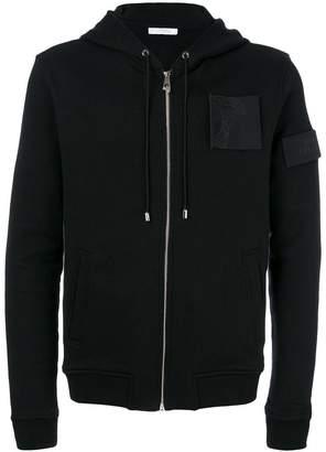 Versace Medusa patch zipped hoodie