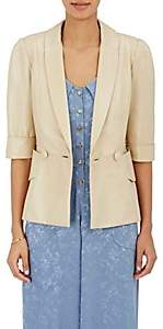 Mayle Maison MAISON WOMEN'S LEATHER DOUBLE-BREASTED JACKET