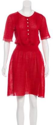 Louis Vuitton Silk Textured Midi Dress