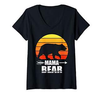 Womens Gifts For Mom Women Cute Funny Mom Mother's Cute Mama Bear V-Neck T-Shirt