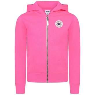 Converse ConverseGirls Pink Zip Up Hoodie