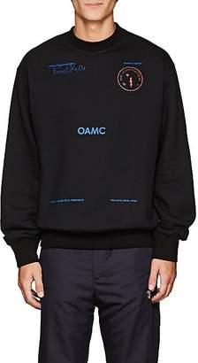 Oamc Men's Logo-Print Cotton Sweatshirt - Black