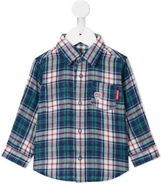 Mikihouse Miki House plaid long-sleeve shirt