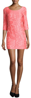 Tracy Reese Scoop-Neck Floral Jacquard Dress $328 thestylecure.com