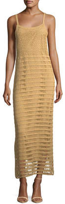 Elizabeth and James Edna Hand-Crochet Long Sleeveless Dress