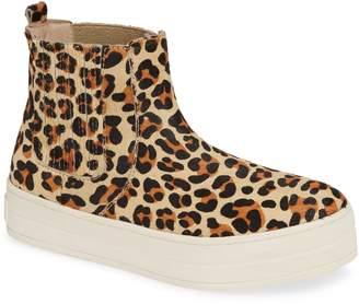 J/Slides Hypo Genuine Calf Hair High Top Sneaker