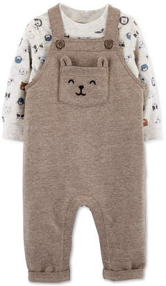 Carter's Carter Baby Boys 2-Pc. Animal-Print T-Shirt & Overalls Set