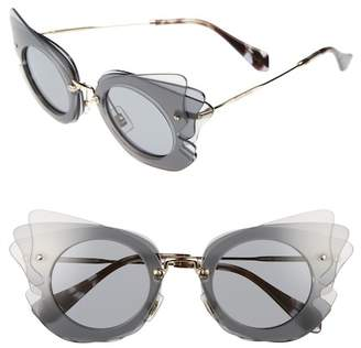 Miu Miu 63mm Layered Butterfly Sunglasses