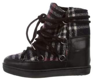 Isabel Marant Nowles Wedge Boots Black Nowles Wedge Boots