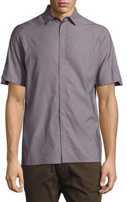 Helmut Lang Short-Sleeve Sport Shirt, Gray