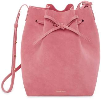 Mansur Gavriel Suede Bucket Bag - Blush