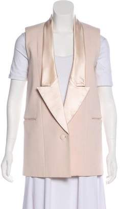 Givenchy Silk-Trimmed Structured Vest