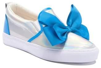 Jo-Jo JoJo Siwa Iridescent Bow Slip-On Sneaker (Little Kid)