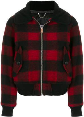 Diesel plaid jacket