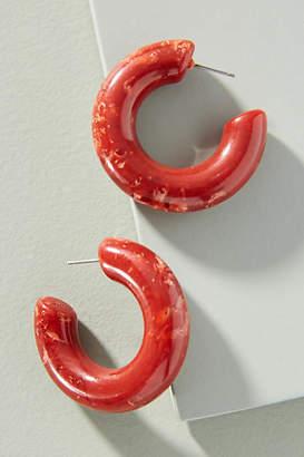 Anthropologie Carrie Resin Hoop Earrings