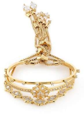 Noir Set Of Three Gold-Tone Crystal Bracelets