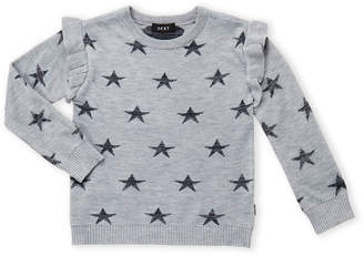 DKNY Girls 4-6x) Star Ruffle Sleeve Sweater