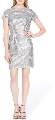 Women's Tahari Sequin Floral Sheath Dress $149 thestylecure.com