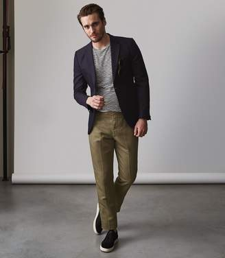 Reiss Cheque Side Fasten Trousers