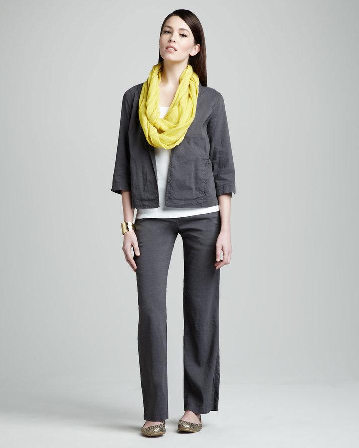 Eileen Fisher Linen-Blend Jacket, Women's