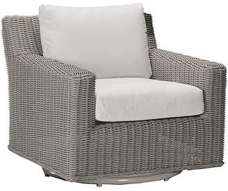 Rustic Oyster Swivel Club Chair - White - SUMMER CLASSICS INC